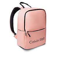 Розовый женский стильный рюкзак. Кожзам, фото 2