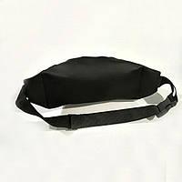 Стильна шкіряна чорна поясна сумка, бананка Balenciaga., фото 6