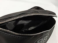 Стильна шкіряна чорна поясна сумка, бананка Victoria's a Secret, вікторія сікрет., фото 3