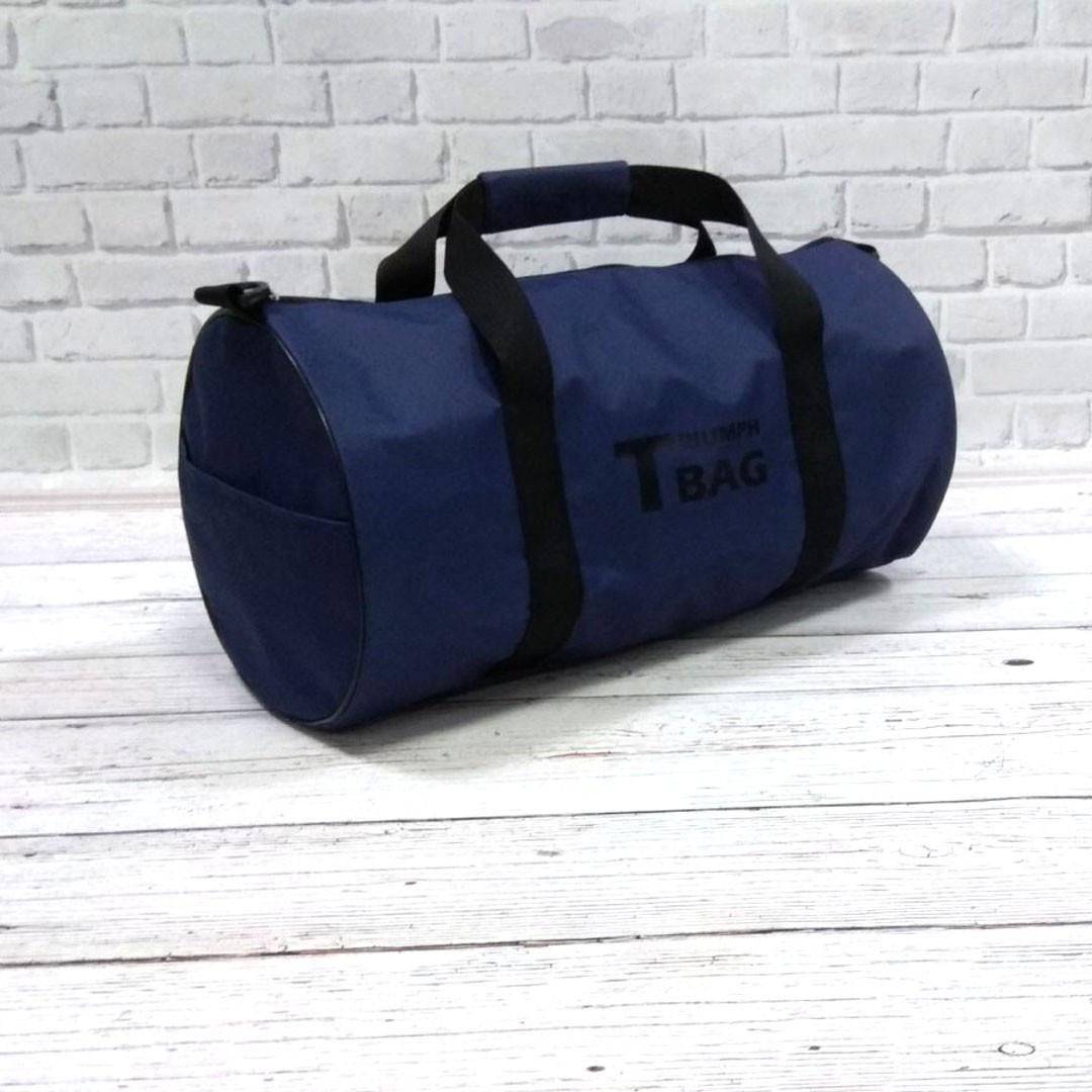 Спортивна сумка бочонок Triumph Bag. Для тренувань, подорожей. Синя