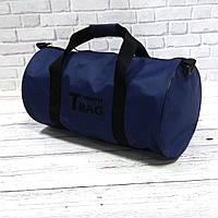 Спортивна сумка бочонок Triumph Bag. Для тренувань, подорожей. Синя, фото 3