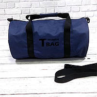 Спортивна сумка бочонок Triumph Bag. Для тренувань, подорожей. Синя, фото 8