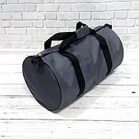 Спортивна сумка бочонок Triumph Bag. Для тренувань, подорожей. Сіра, фото 4
