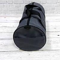 Спортивна сумка бочонок Triumph Bag. Для тренувань, подорожей. Сіра, фото 5