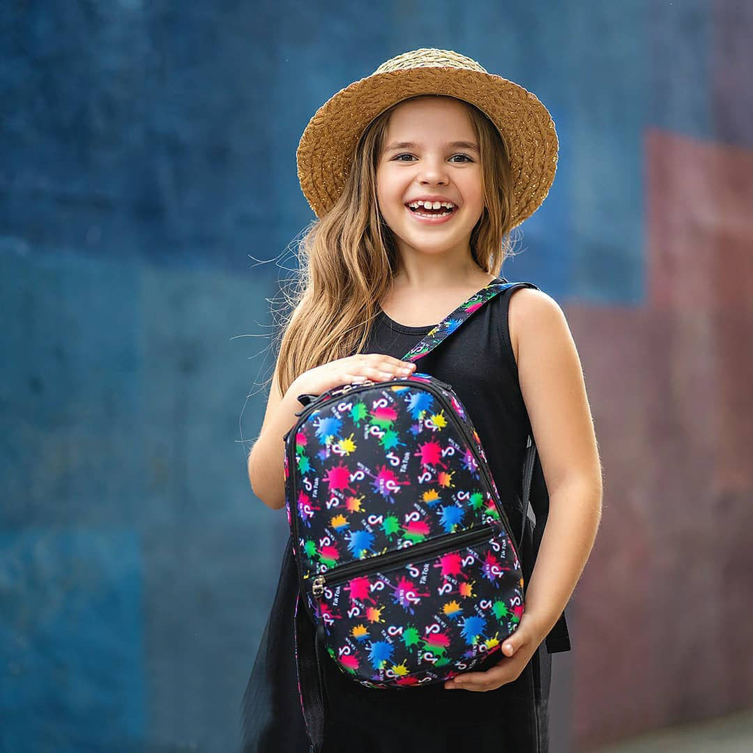 Стильный мини рюкзак с принтом TikTok, тик ток. Для детей и взрослых