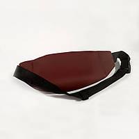 Стильна шкіряна бордова поясна сумка, бананка кензо, KENZO., фото 4