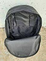 Молодежный городской, спортивный рюкзак, портфель New Balance, нью бэланс. Голубой с черным, фото 8