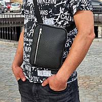 Стильная мужская барсетка, планшет из экокожи. Черная, фото 2