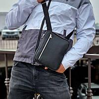 Стильная мужская барсетка, планшет из экокожи. Черная, фото 6