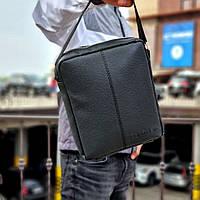 Стильна чоловіча барсетка, планшет з екошкіри Calvin Klein, Кельвін кляйн. Чорна, фото 2