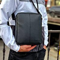 Стильна чоловіча барсетка, планшет з екошкіри Calvin Klein, Кельвін кляйн. Чорна, фото 3