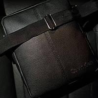 Стильна чоловіча барсетка, планшет з екошкіри Calvin Klein, Кельвін кляйн. Чорна, фото 5
