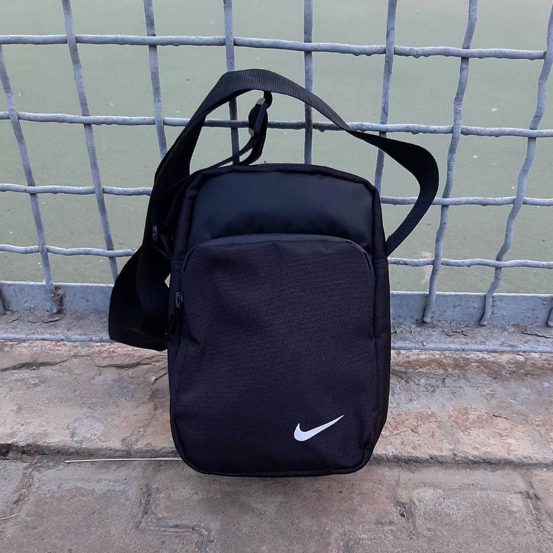 Черная спортивная сумка, барсетка найк, Nike.