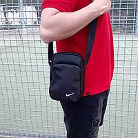 Черная спортивная сумка, барсетка найк, Nike., фото 2
