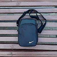 Черная спортивная сумка, барсетка найк, Nike., фото 4