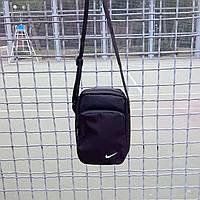 Черная спортивная сумка, барсетка найк, Nike., фото 5