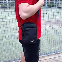 Черная спортивная сумка, барсетка найк, Nike., фото 6