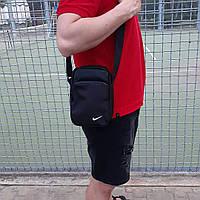 Черная спортивная сумка, барсетка найк, Nike., фото 8