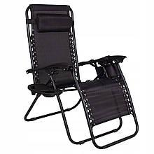 Шезлонг (крісло-лежак) для пляжу, тераси та саду Springos Zero Gravity GC0009