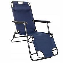 Шезлонг (крісло-лежак) для пляжу, тераси та саду Springos Zero Gravity GC0012