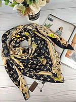 Шелковый платок Louis Vuitton Луи Витон край в ручную
