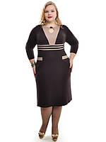 Платье женское  прямое ,размеры 48-62,модель ДК 528, фото 1