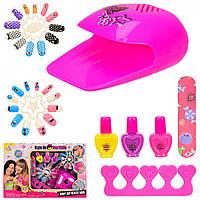 Детский игровой набор для маникюра с наклейками для ногтей лаками аксессуарами