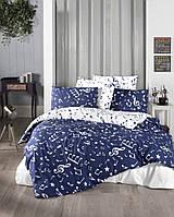 Постельное белье подростковое 160x220 First choice ранфорс Major navy blue