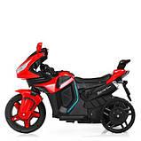 Мотоцикл M 3965EL-3 2мотора25W, 2аккум6V4.5, MP3,USB, муз,шкір.сід,колесаEVA, EVA, червон, фото 3