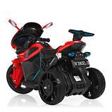 Мотоцикл M 3965EL-3 2мотора25W, 2аккум6V4.5, MP3,USB, муз,шкір.сід,колесаEVA, EVA, червон, фото 4
