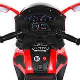 Мотоцикл M 3965EL-3 2мотора25W, 2аккум6V4.5, MP3,USB, муз,шкір.сід,колесаEVA, EVA, червон, фото 5