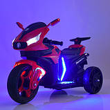 Мотоцикл M 3965EL-3 2мотора25W, 2аккум6V4.5, MP3,USB, муз,шкір.сід,колесаEVA, EVA, червон, фото 6