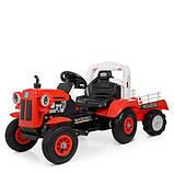 Дитяча машина Трактор M 4261ABLR-3 червоний, фото 8