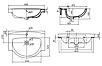 FREJA умывальник мебельный 65см, с отверстием, с переливом (укр.), фото 2