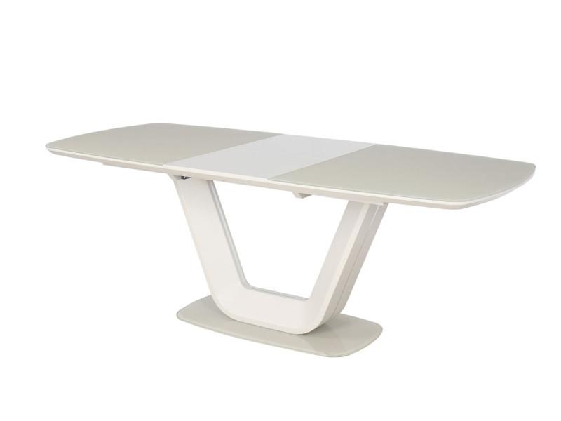 Стол раскладной ARMANI кремовый 160(220)x90 (Signal)