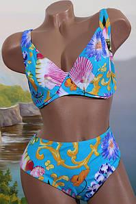 Женский раздельный купальник Atlantic beach, 52 -54, 54-56, 56-58 60 62+ р  D E  голубой