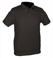 Тактическая потоотводящая футболка-поло Mil-tec цвет черный
