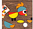 Навчальна дерев'яна гра-конструктор-мозаїка геоанимо ze geoanimo., фото 3