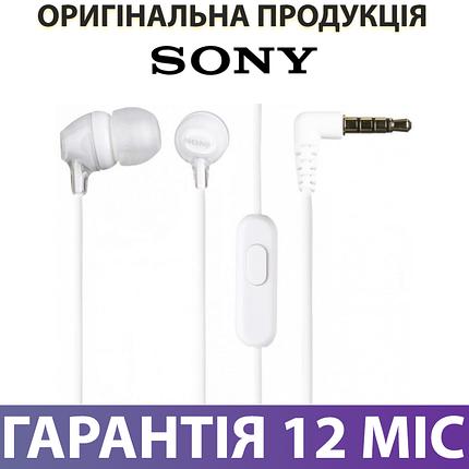 Наушники SONY MDR-EX15AP (MDREX15APW.CE7) белые, проводные, с микрофоном, вакуумные, гарнитура сони, фото 2