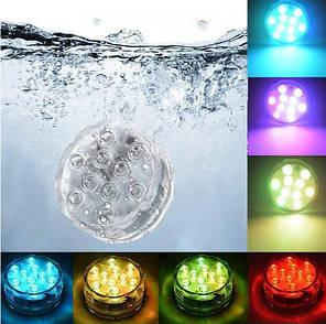 Водонепроницаемая светодиодная подсветка для бассейна, аквариума, кальяна 12LED с пультом, фото 2