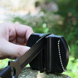 Карманная точилка для кухонных ножей из керамики и карбида, фото 2