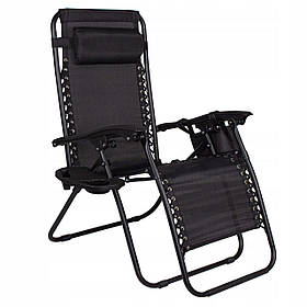 Шезлонг (кресло-лежак) для пляжа, террасы и сада Springos Zero Gravity GC0009