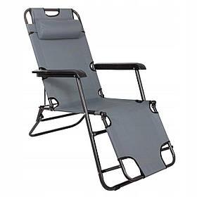 Шезлонг (кресло-лежак) для пляжа, террасы и сада Springos Zero Gravity GC0013
