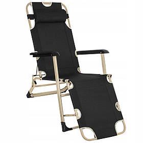 Шезлонг (кресло-лежак) для пляжа террасы и сада Springos Zero Gravity GC0037