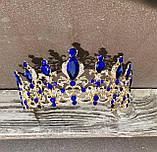 Дуже гарна корона з синіми кристалами (7см), фото 6