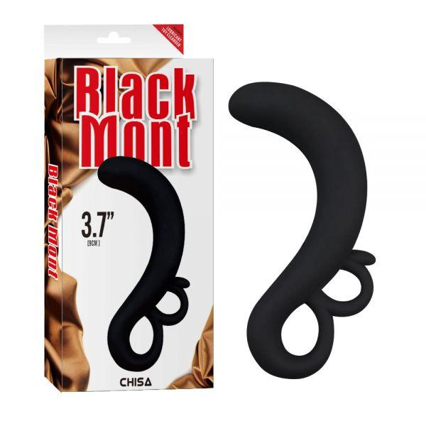 Массажер простаты 3.7 Black Mont Two-Finger G-Spot Plug Chisa