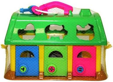 Развивающая игрушка Полесье Игровой набор домик для зверей в коробке 9166