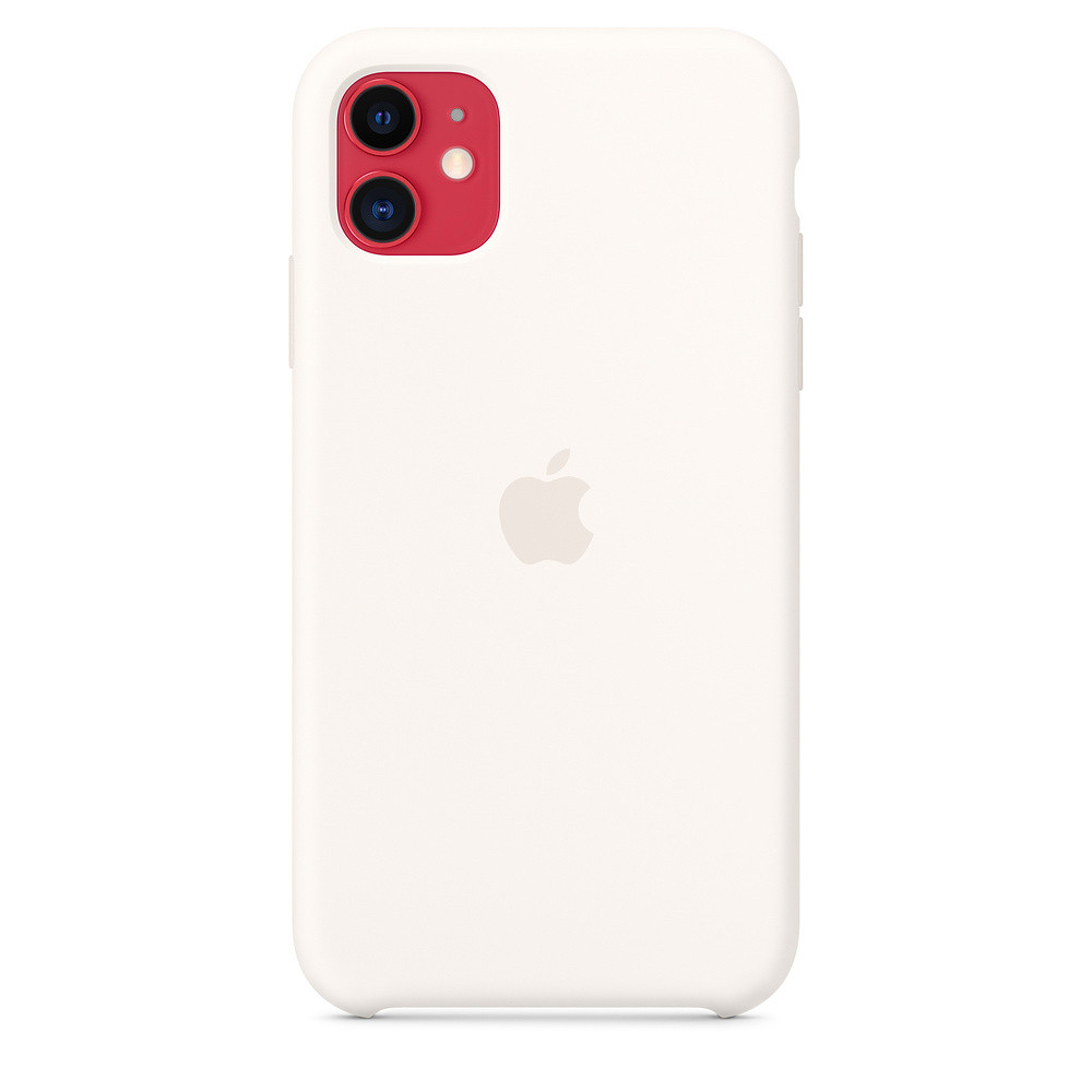 Чохол iSpack Silicone Case для iPhone 11 White OEM (MWVX2)