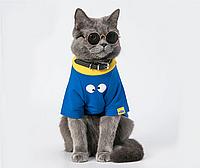 Окуляри для собак і кішок Multibrand в золотій оправі, чорні (скло)