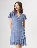Приятное короткое летнее платье на запах в цветочный принт с V-вырезом в 5 цветах в размере S, M, L, фото 10